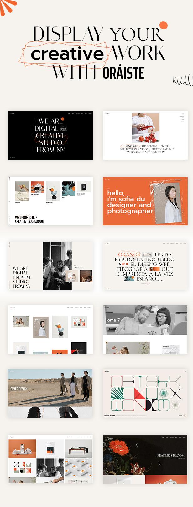 Oráiste - Creative Portfolio WordPress Theme - 1
